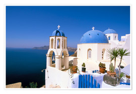 Premium poster  Oia (Ia), island of Santorini (Thira), Cyclades Islands, Aegean, Greek Islands, Greece, Europe - Sergio Pitamitz
