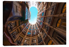 Canvas  Interior of La Pedrera - James Emmerson