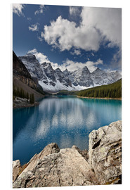 Foam board print  Moraine Lake in the fall - James Hager