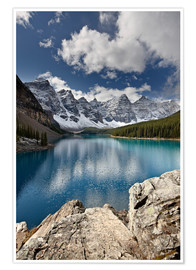 Premium poster  Moraine Lake in the fall - James Hager