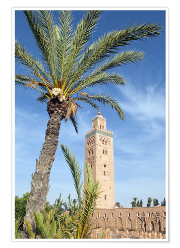 Premium poster Minaret of the Koutoubia Mosque, UNESCO World Heritage Site, Marrakech, Morocco, North Africa, Afric