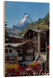 Wood print  Zermatt with Matterhorn - Angelo Cavalli