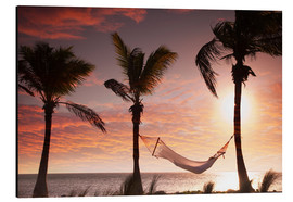 Aluminium print  Hammock on the beach, Florida - Angelo Cavalli