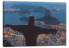 Canvas  Christ the Redeemer, Corcovado - Angelo Cavalli