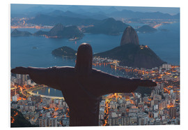 Foam board print  Christ the Redeemer, Corcovado - Angelo Cavalli
