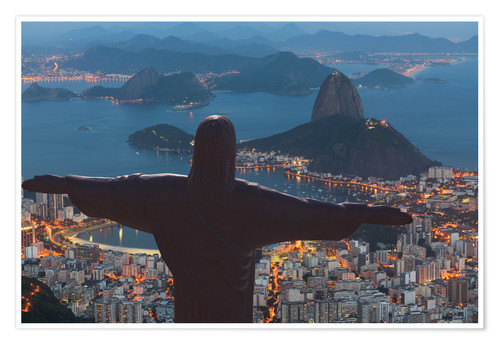 Premium poster Christ the Redeemer, Corcovado