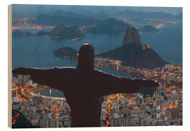 Wood print  Christ the Redeemer, Corcovado - Angelo Cavalli