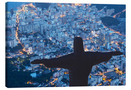 Canvas  Statue of Christ the Redeemer, Corcovado, Rio de Janeiro, Brazil, South America - Angelo Cavalli