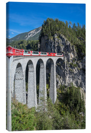 Canvas  Landwasser Viadukt, Filisur, Graubunden, Swiss Alps, Switzerland, Europe - Angelo Cavalli