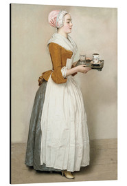 Alu-Dibond  The Chocolate Girl - Jean Etienne Liotard