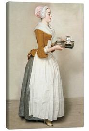 Canvas  The Chocolate Girl - Jean Etienne Liotard