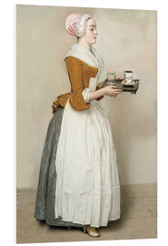 Foam board print  The Chocolate Girl - Jean Etienne Liotard