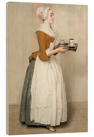 Wood print  The Chocolate Girl - Jean Etienne Liotard