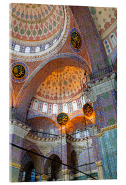 Acrylic print  Yeni Mosque, Eminonu and Bazaar District, Istanbul, Turkey, Europe - Richard Cummins