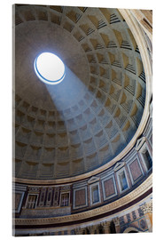 Acrylic print  A shaft of light through the dome of the Pantheon, UNESCO World Heritage Site, Rome, Lazio, Italy, E - Martin Child