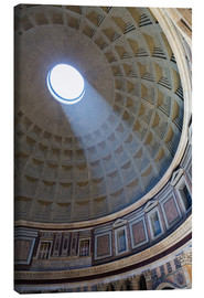 Canvas  A shaft of light through the dome of the Pantheon, UNESCO World Heritage Site, Rome, Lazio, Italy, E - Martin Child