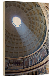 Wood  A shaft of light through the dome of the Pantheon, UNESCO World Heritage Site, Rome, Lazio, Italy, E - Martin Child