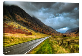 Canvas  Road in Glencoe, Scotland - David Wogan