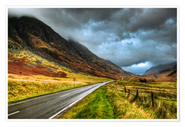 Poster  Road in Glencoe, Scotland - David Wogan