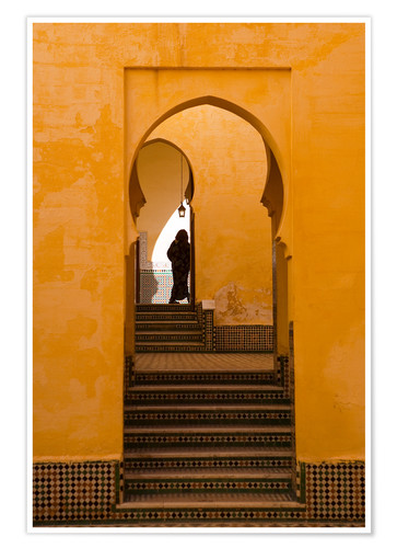 Premium poster Mausoleum of Moulay Ismail, Meknes, Morocco
