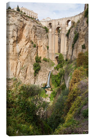 Canvas print  Puente Nuevo (New Bridge) over the El Tajo gorge of the River Guadalevin, Ronda, Andalucia, Spain, E - Giles Bracher