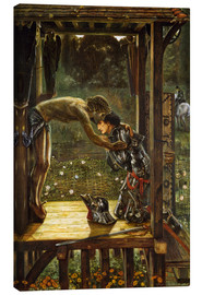 Canvas print  The Merciful Knight - Edward Burne-Jones