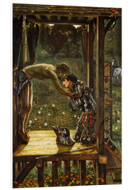 Foam board print  The Merciful Knight - Edward Burne-Jones