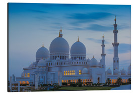 Aluminium print  Sheikh Zayed Grand Mosque - Jane Sweeney