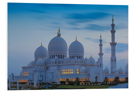 Foam board print  Sheikh Zayed Grand Mosque - Jane Sweeney