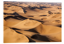 Acrylic glass  Aerial view of the dunes of the Namib Desert, Namibia, Africa - Roberto Moiola
