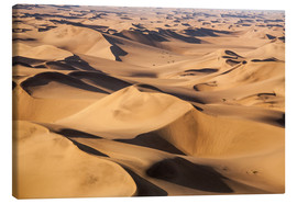 Canvas  Aerial view of the dunes of the Namib Desert, Namibia, Africa - Roberto Moiola