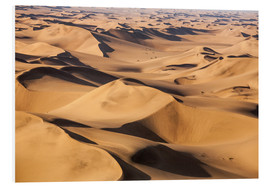 Foam board print  Aerial view of the dunes of the Namib Desert, Namibia, Africa - Roberto Moiola