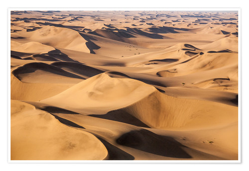 Premium poster Aerial view of the dunes of the Namib Desert, Namibia, Africa