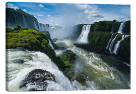Canvas  Foz de Iguazu (Iguacu Falls), the largest waterfalls in the world, Iguacu National Park, UNESCO Worl - Michael Runkel