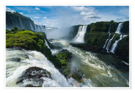 Premium poster  Foz de Iguazu (Iguacu Falls), the largest waterfalls in the world, Iguacu National Park, UNESCO Worl - Michael Runkel