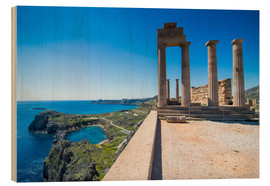Wood  Acropolis of Lindos, Rhodes, Dodecanese Islands, Greek Islands, Greece, Europe - Michael Runkel