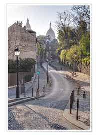 Premium poster Montmartre with the Sacré Coeur