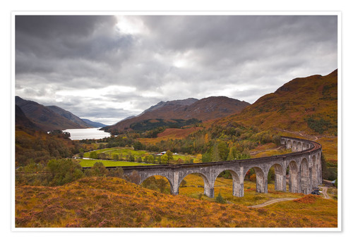 Premium poster Glenfinnan Viaduct in the Scottish Highlands