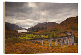 Wood print  Glenfinnan Viaduct in the Scottish Highlands - Julian Elliott