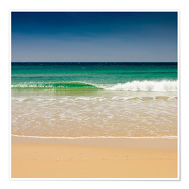 Premium poster  Small wave, Los Lances beach, Tarifa, Andalucia, Spain, Europe - Giles Bracher