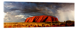 Acrylic print  Uluru (Ayers Rock), Uluru-Kata Tjuta National Park, UNESCO World Heritage Site, Northern Territory,  - Giles Bracher
