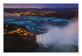 Premium poster  View of Horseshoe Falls, Niagara Falls, Niagara, border of New York State, and Ontario, Canada, Nort - Jane Sweeney