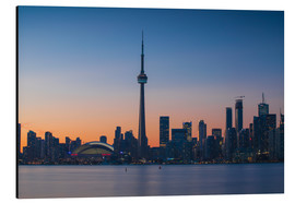 Aluminium print  View of CN Tower and city skyline, Toronto, Ontario, Canada, North America - Jane Sweeney