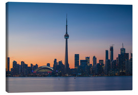 Canvas  View of CN Tower and city skyline, Toronto, Ontario, Canada, North America - Jane Sweeney