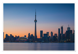 Premium poster  View of CN Tower and city skyline, Toronto, Ontario, Canada, North America - Jane Sweeney