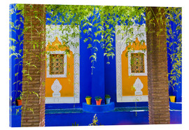 Acrylic print  Windows in the Majorelle Gardens - Matthew Williams-Ellis