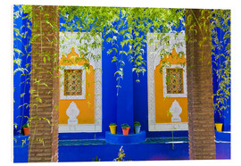 Foam board print  Windows in the Majorelle Gardens - Matthew Williams-Ellis