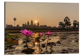 Aluminium print  Sunrise over the west entrance to Angkor Wat, Angkor, UNESCO World Heritage Site, Siem Reap, Cambodi - Michael Nolan
