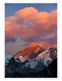 Premium poster Mount Everest & Mount Lhotse