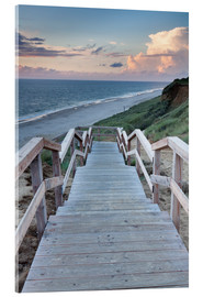 Acrylic print  Stairs down to the beach, Sylt - Markus Lange